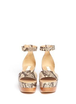 Figure View - Click To Enlarge - Stella McCartney - Python print flatform sandals
