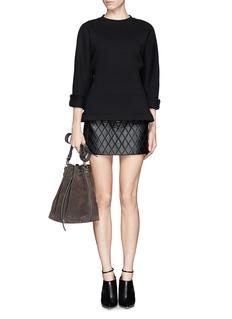 NEIL BARRETTQuilt leather skirt