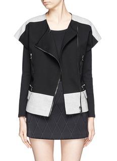 MSGMContrast panel biker jacket