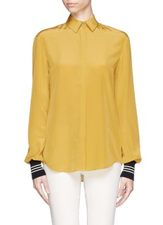 JASON WU Rib cuff silk shirt