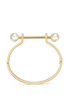 Chloé'Darcey' piercing bar Swarovski pearl cuff