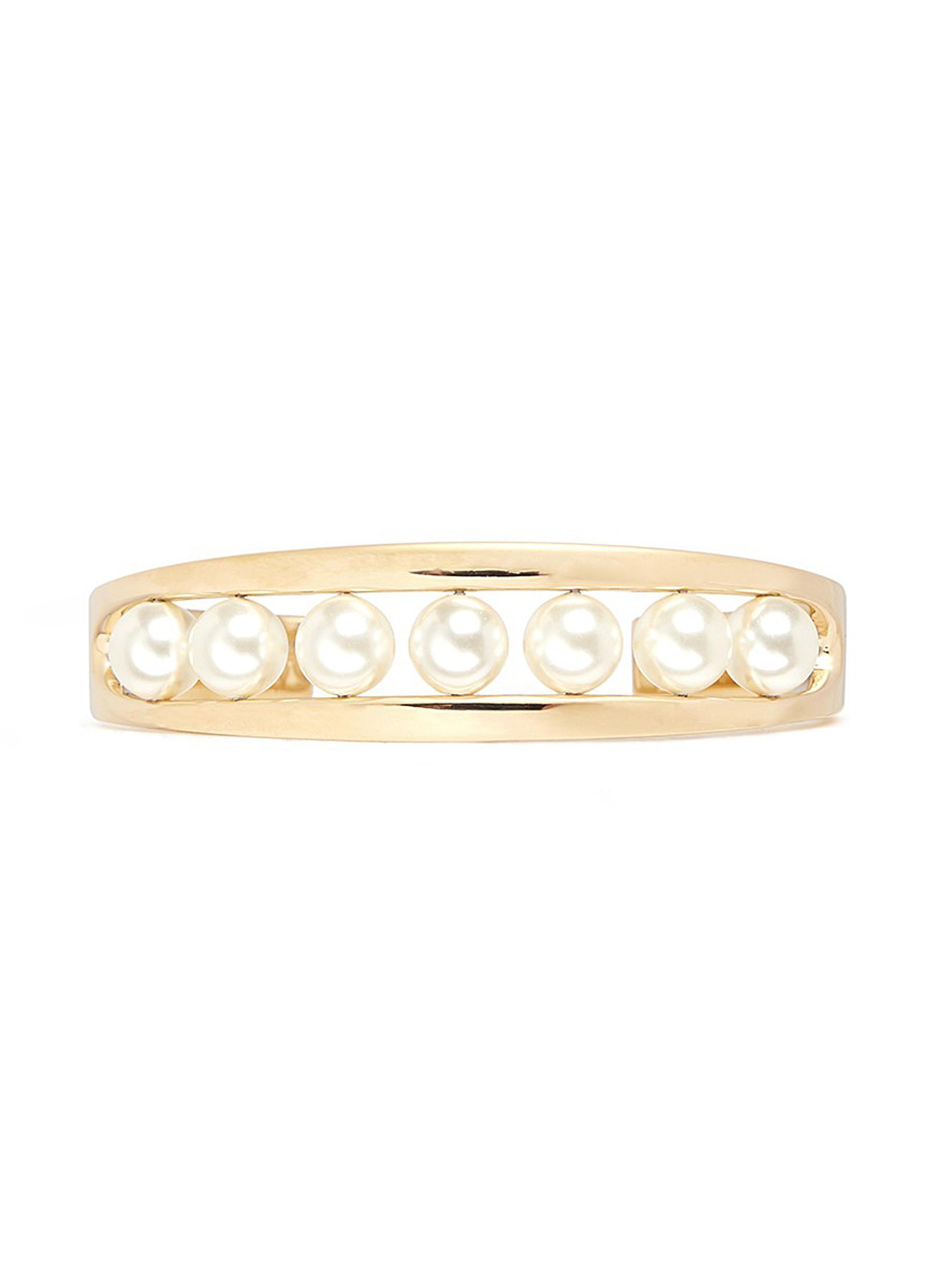 chloe female darcey inset swarovski pearl cuff
