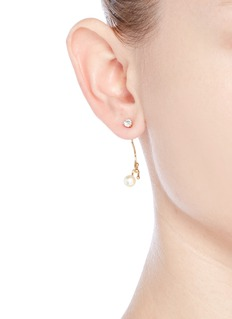 Chloé 'Monroe' Swarovski crystal pearl jacket earrings