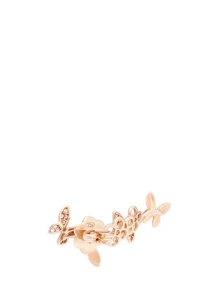 Detail View - Click To Enlarge - Anyallerie - 'Small Butterfly' diamond 18k rose gold climber earrings