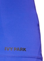 V-back mesh insert marled vest