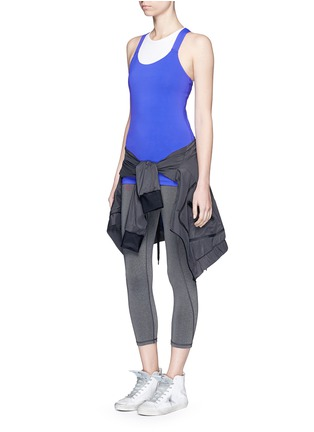 Ivy Park-V-back mesh insert marled vest