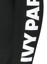 Logo print foldover waist leggings