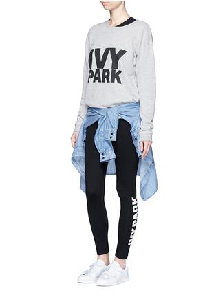 Ivy Park-Logo print foldover waist leggings