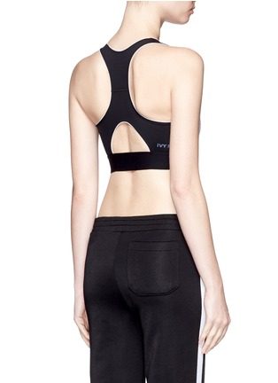 Ivy Park-Colourblock V-back mesh insert sports bra