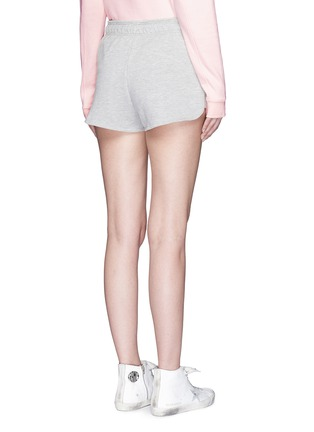 Ivy Park-Logo French terry drawstring runner shorts