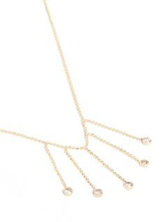 Xiao Wang'Elements' diamond 14k yellow gold beaded necklace