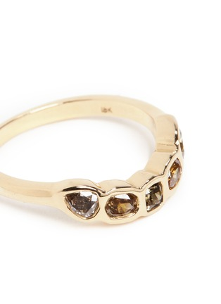 Detail View - Click To Enlarge - Xiao Wang - 'Surface Half Circle' diamond 18k yellow gold ring