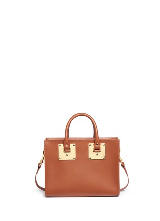 Detail View - Click To Enlarge - Sophie Hulme - 'Albion' medium leather box tote