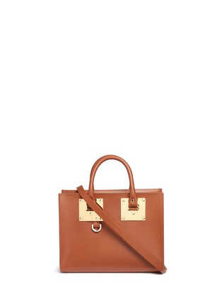 Main View - Click To Enlarge - Sophie Hulme - 'Albion' medium leather box tote