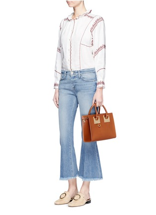 Figure View - Click To Enlarge - Sophie Hulme - 'Albion' medium leather box tote