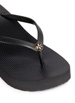 'Thin' wedge flip flops