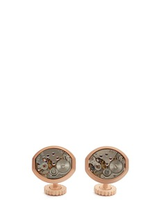 Tateossian Vintage skeleton gear oblong cufflinks