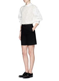 Calvin Klein CollectionPolka dot silk-cotton top