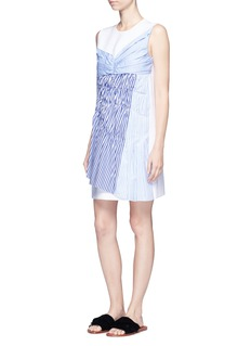 VICTORIA, VICTORIA BECKHAM Gathered panel crepe shift dress