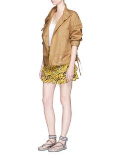 Isabel Marant Étoile'Ira' cotton-linen gabardine jacket