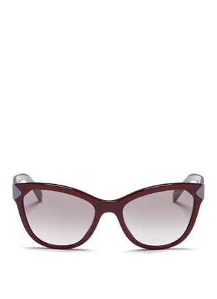 Main View - Click To Enlarge - Prada - Colourblock acetate cat eye sunglasses