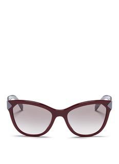PRADAColourblock acetate cat eye sunglasses