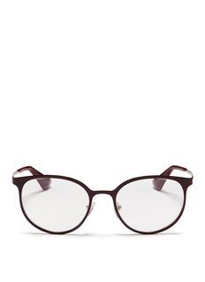 PradaCoated metal round optical glasses