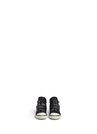 模特儿示范图 - 点击放大 - Ash Kids - FANTA BIS幼儿款幻彩亮片高筒球鞋