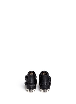 Back View - Click To Enlarge - Ash Kids - 'Frog' stud leather kids sneakers