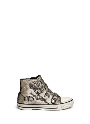 Main View - Click To Enlarge - Ash Kids - 'Fanta' metallic leather kids sneakers