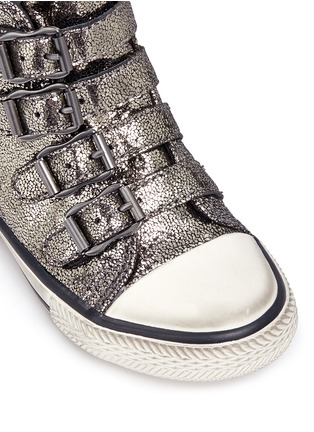 Detail View - Click To Enlarge - Ash Kids - 'Fanta' metallic leather toddler sneakers