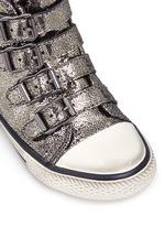 'Fanta' metallic leather toddler sneakers