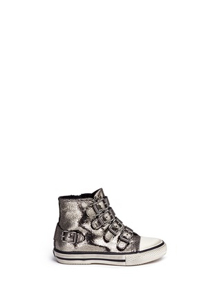 Main View - Click To Enlarge - Ash Kids - 'Fanta' metallic leather toddler sneakers