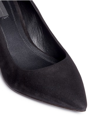 Detail View - Click To Enlarge - Alexander Wang  - 'Simona' cutout heel suede pumps
