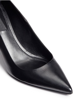 Detail View - Click To Enlarge - Alexander Wang  - 'Trista' cutout heel leather pumps