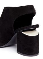 'Nadia' cutout heel suede sandal booties