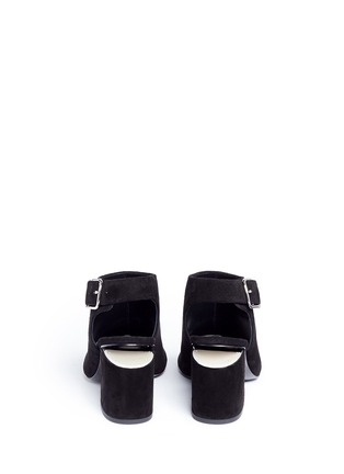 Back View - Click To Enlarge - Alexander Wang  - 'Nadia' cutout heel suede sandal booties