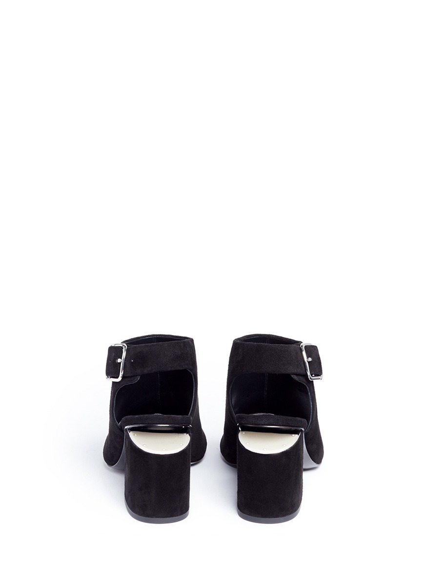 ALEXANDER WANG Nadia Suede Sandal With Rhodium
