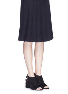 ALEXANDER WANG 'Nadia' cutout heel suede sandal booties