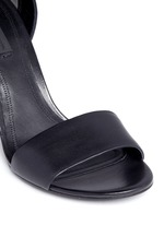 'Abby' cutout heel leather sandals