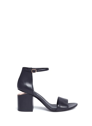 Main View - Click To Enlarge - Alexander Wang  - 'Abby' cutout heel leather sandals