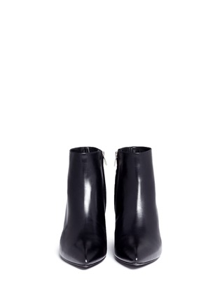 Front View - Click To Enlarge - Alexander Wang  - 'Liv' cutout wedge heel ankle boots