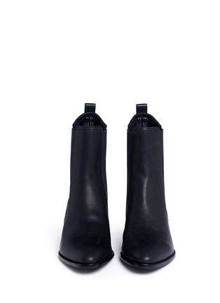 Front View - Click To Enlarge - Alexander Wang  - 'Anouck' cutout heel leather Chelsea boots