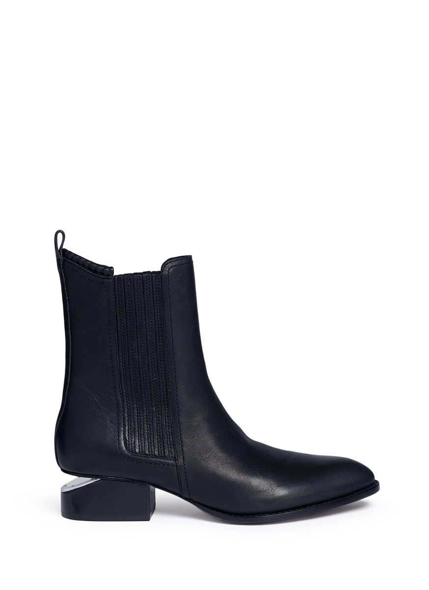 Anouck cutout heel leather Chelsea boots by Alexander Wang