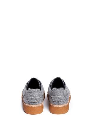 Back View - Click To Enlarge - Alexander Wang  - 'Eden Low' felt platform sneakers