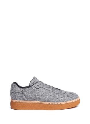 Main View - Click To Enlarge - Alexander Wang  - 'Eden Low' felt platform sneakers