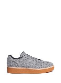 Alexander Wang 'Eden Low' felt platform sneakers