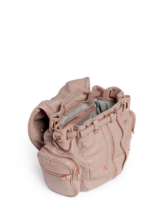 Detail View - Click To Enlarge - Alexander Wang  - Mini Marti' washed leather three-way backpack