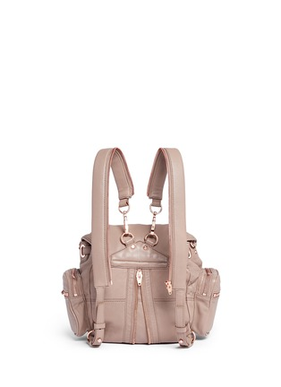 Back View - Click To Enlarge - Alexander Wang  - Mini Marti' washed leather three-way backpack