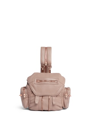 Main View - Click To Enlarge - Alexander Wang  - Mini Marti' washed leather three-way backpack